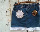spring sky blue denim cowgirl rustic short ranch laces vintage  gypsy aspen forest girl mini skirt
