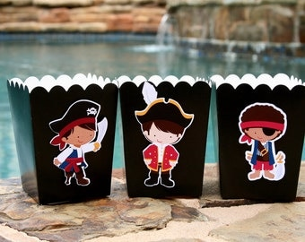 Pirate Party Snack Boxes- Set of 12