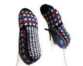 Women's Handmade Slippers, Hand knitted slippers, Hand knit warm slipper,traditional Turkish Slippers