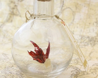 Fairy in a  Bottle - Dragonfire Faerie, golden yellow with Ruby Red wings MADE TO ORDER