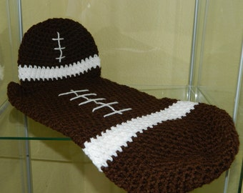 Baby football cocoon set photo prop