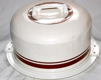 Retro Round Tin Cake Carrier