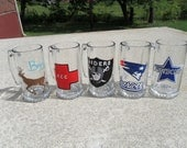 fully customizable 10 piece wedding set Champagne glasses  and beer /stein mugs