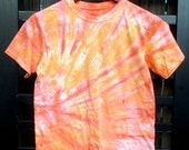 Clearance - Pink and Orange Tie Dye Kids T-Shirt - (Youth Large)