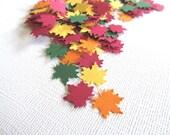 100 Autumn Maple Leaves, Confetti, Embellishments