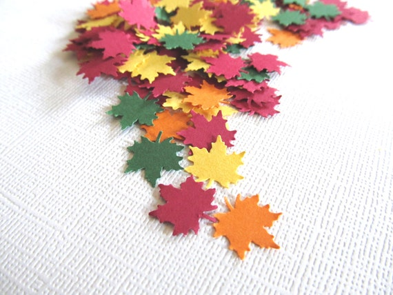 100 Autumn Maple Leaves, Confetti, Embellishments