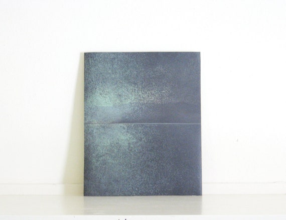 Etching Art Print/ Minimalist Home Decor: Chiral (in Mint Green and Charcoal Gray)