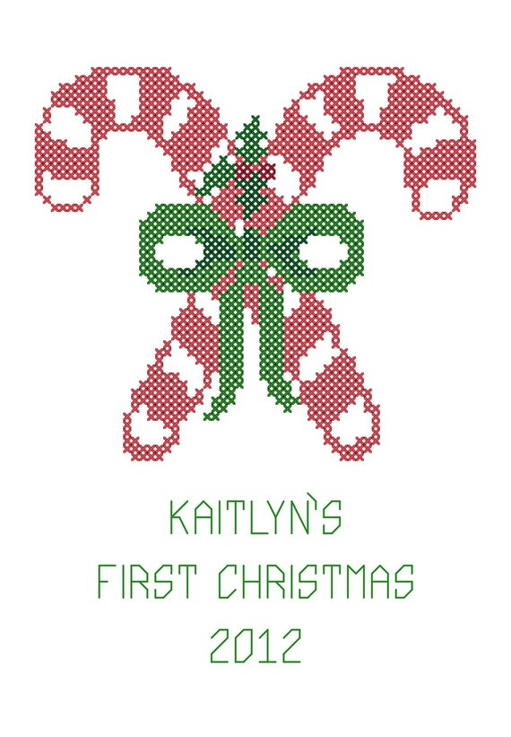 Baby First Christmas Cross S Ch Ornament Pattern