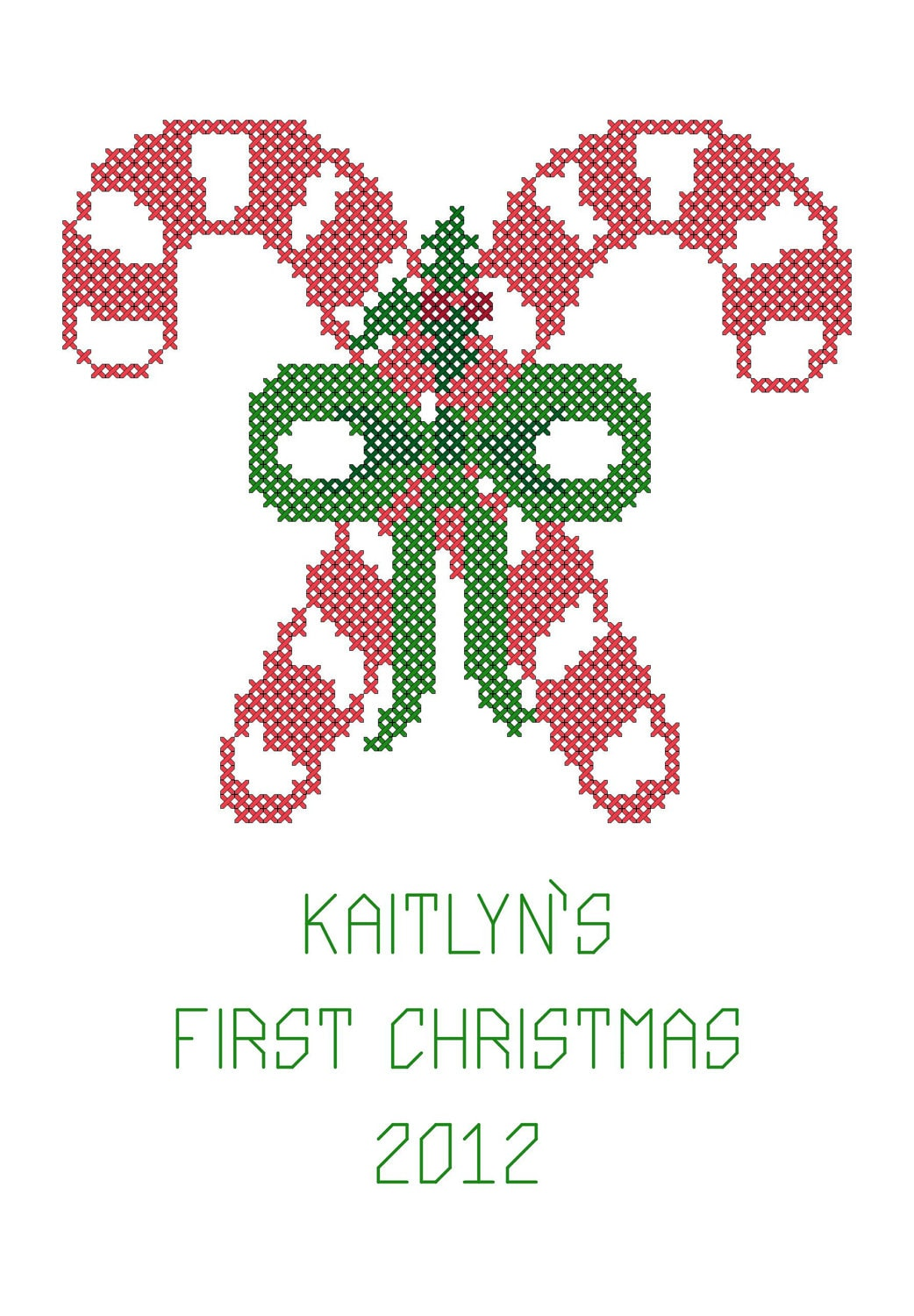Cross Stitch Christmas Ornament