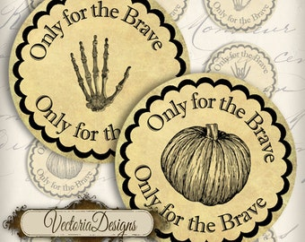 Halloween 2 inch circles instant download printable  images cupcake toppers digital collage sheet VD0227