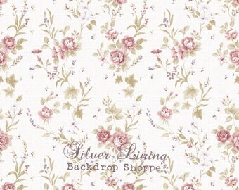 5 ft x 5 ft Photography Backdrop Vintage Helena Purple Blossom Wallpaper photo prop