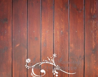SALE 5ft x 5ft Photography Backdrop / Matte Vinyl / Brown Charnley Wood LARGE