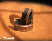 Ear Weights in Forged Copper - Stretched Ear
