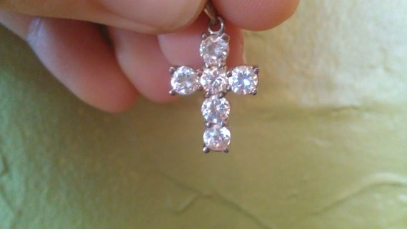 sterling silver cross pendant (free shipping)