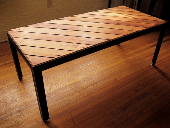 Items Similar To Slant Coffee Table Gorgeous Reclaimed