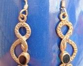 Antique Look Brass Pair Dangle Earrings SNAKE
