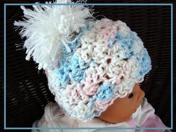Instant Download PDF Crochet Pattern - Shell Stitch Hat, SPP66 newborn to adult
