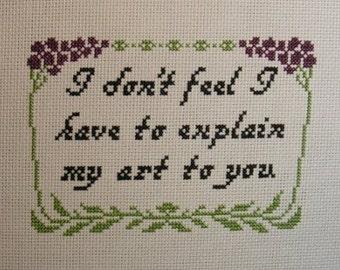 Empire Records Quote Cross-stitch Pattern
