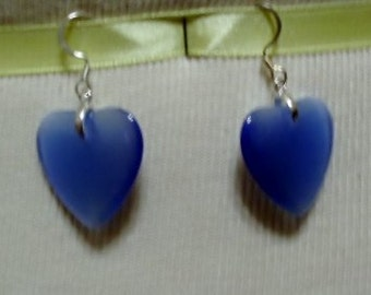 Blue Heart Earring