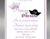 Printable DIY Princess and Pirate Party Invitation