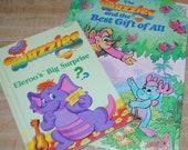 VTG Set of 2 1980s Wuzzles Books