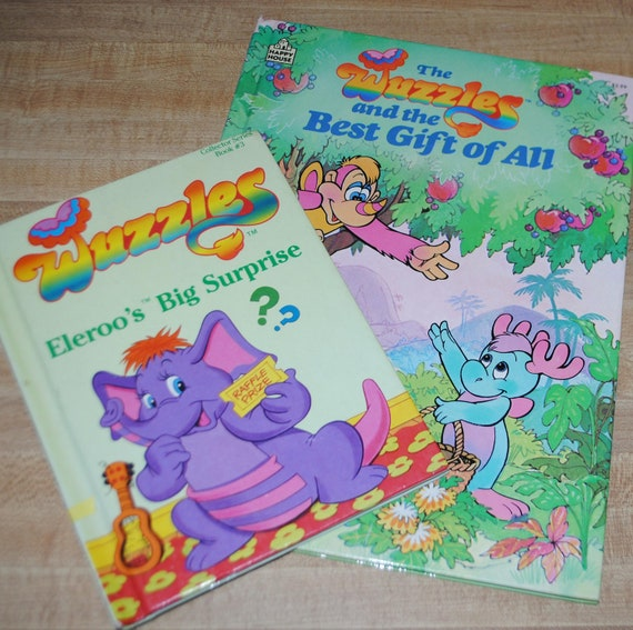 VTG Set of 2 1980s Wuzzles Books
