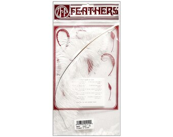 """White Ostrich Drab Feather  - approx. 9"""" - 13"""" in length - loose feathers  supplies"""