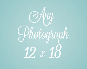 12 x 18 inch photograph of your choice