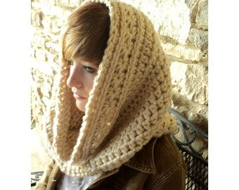 Crochet PATTERN -Crown of Stars Crochet Cowl and matching Fingerless Gloves
