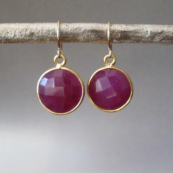 Ruby Dangle Earrings