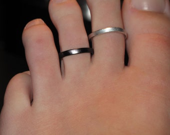 Wire Wrapped Single Band Toe Rings MADE TO ORDER