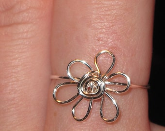 Wire Wrapped Flower MADE to ORDER Ring