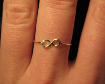 Wire Wrapped Infinity Symbol Ring MADE to ORDER