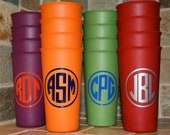 PersonalizedCups, Monogrammed Cups - set of 4 tumblers
