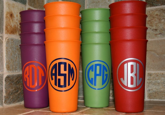Tumblers, Cups, Personalized Cups, Monogrammed Cups, Personalized Tumblers, Monogrammed Tumblers, set of 4 tumblers