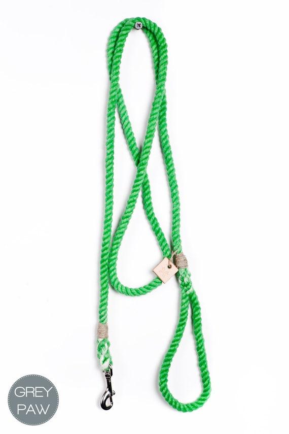 Dog lead pet supplies dog collar dog leash: Small or medium grass cotton rope leash