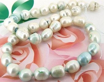 Loose beads gemstones 8mm to 9mm  freshwater cultured rice Pearl beads full one strand