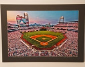 SALE:  Matted Photo - Philadelphia Phillies - Sports Photography - Citizen's Bank Park - Fine Art Photograph Print - 20X28 (16X24 Print)