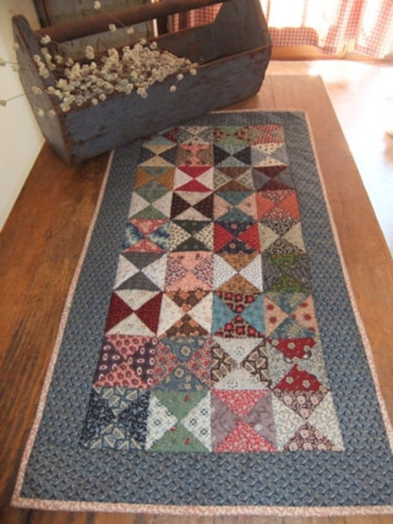 Scrappy Quilt Table Runner Civil War Reproduction