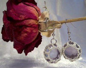 Amethyst Florist Marble Earrings