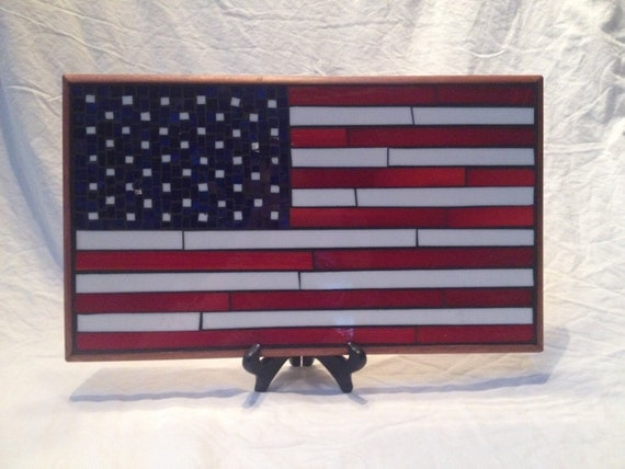 mosaic american flag wall hanging picture. Black Bedroom Furniture Sets. Home Design Ideas