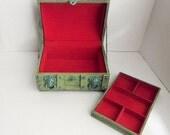 Beach Chic Jewelry Box - Cottage Chic Jewelry Box - Shabby and Chic Treasure Chest