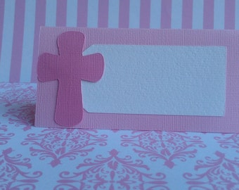Baptism, Christening Cross Place Cards