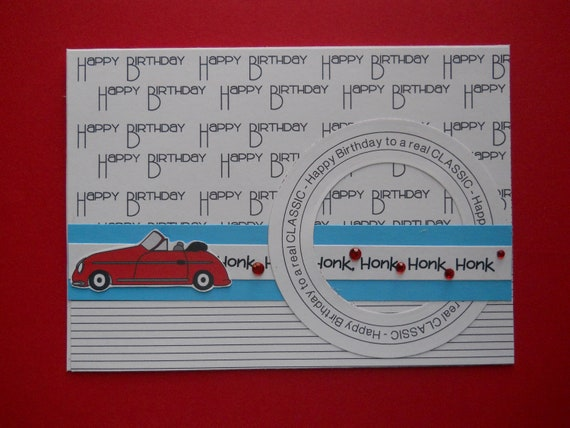 Items similar to handmade birthday card for men car on etsy bookmarktalkfo Image collections