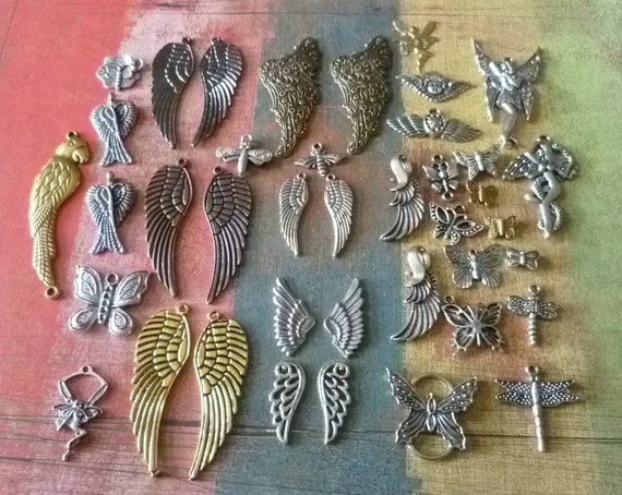 40 Wings and Things with Wings Charms