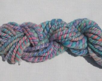 Handspun Cotton Candy Art Yarn, 13 yards