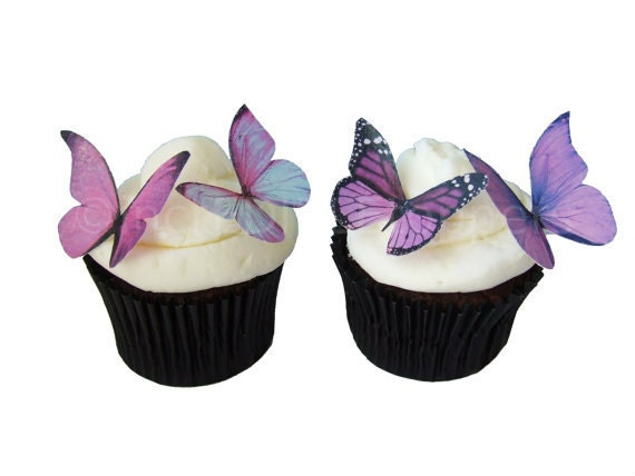 Cake Decoration Butterfly : Wedding Cake Topper Edible Butterflies in 24 Prettiest