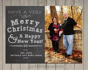 Chalkboard Holiday Christmas cards