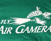 Fly Air Gamera t-shirt  -  Mens/Women/Unisex - MST3K - Green