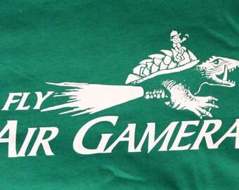 Fly Air Gamera t-shirt  -  Mens/Women/Unisex - MST3K - Green